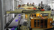 Stock Video Footage of Robotics Factory Time Lapse