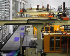 Robotics Factory Time Lapse - stock footage