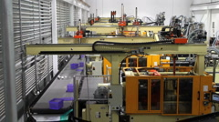 Robotics Assembly Factory Stock Footage