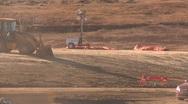 Construction, Cat 773e dump truck, #9 through frame Stock Footage