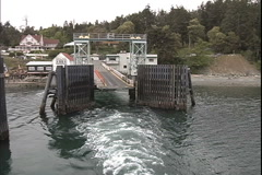 Washington state ferry to Orcas Island 3 Stock Footage