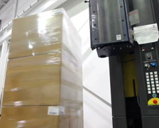 Factory Shrink Wrap 2 - stock footage
