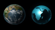 Two Style of 3D Earth - HD Stock Footage