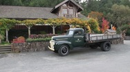 Winery and old truck Stock Footage