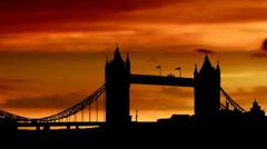 London tower bridge 04 - stock footage