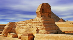 The Sphinx and Pyramid Stock Footage