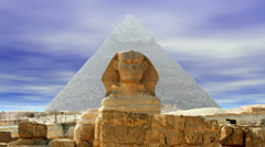 The Sphinx and Pyramid - stock footage