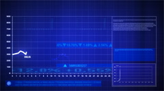 Stock exchange graph. - stock footage
