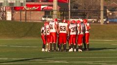 High School football, #32 run and fumble  Stock Footage