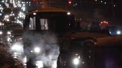 Night traffic. Cars. First snow.10 Stock Footage
