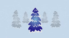 Christmas trees Stock Footage