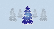 Christmas trees Stock Footage