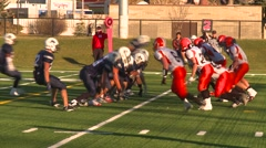 Sports and fitness, High School football, #22 nice catch TD Stock Footage