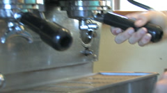 Making a cafe latte Stock Footage
