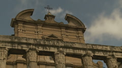 Inside the Roman Forum, Temple of Antoninus and Faustina. Stock Footage