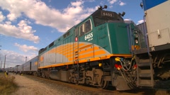 Railroad, FPH bio-diesel locomotives pan Stock Footage