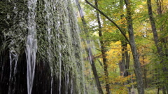 Waterfall silver stream in Crimea. II. Stock Footage