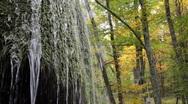 Waterfall silver stream in Crimea. II. Stock Footage