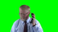 upset on the phone - stock footage