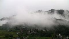 Misty landscape Stock Footage