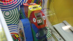 Arcade Spinning Wheel Stock Footage