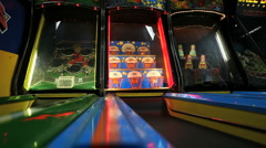 Basket Skeeball Arcade Game Stock Footage