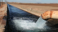 Stock Video Footage of Irrigation Water Pipe