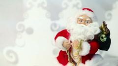 Dancing Santa toy - stock footage