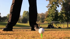 GOLF TEE SHOT Stock Footage