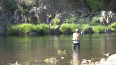 Fishing in Calfornia Stock Footage