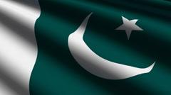 Pakistan flag close up Stock Footage