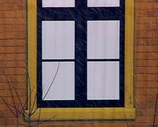 Camouflage window. Stock Footage