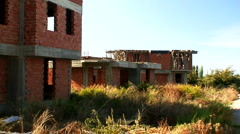 Abandoned derelict construction site 15 - stock footage