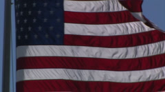 American Flag waving in the wind Stock Footage