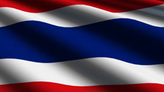 Thailand flag close up Stock Footage