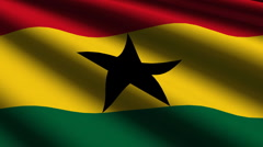 Ghana flag close up Stock Footage