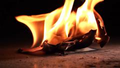 Paper with flames Stock Footage