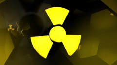 Radioactive symbol with reflective hive bkg Stock Footage