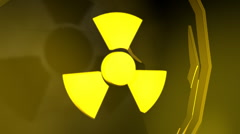 Radioactive symbol with reflective background  Stock Footage