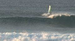 Windsurfing in Maui, Hawaii Stock Footage