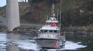 Stock Video Footage of coast guard boat