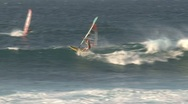 Stock Video Footage of Windsurfing in Maui, Hawaii