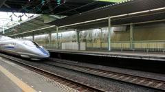 Bullet Train in Japan - stock footage