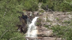 Summer Waterfall in NH Stock Footage