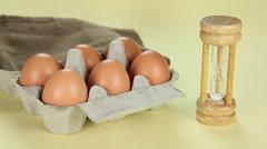 Boiled Egg Breakfast Stock Footage
