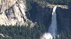 Yosemite National Park waterfall Stock Footage