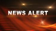 NEWS ALERT Bumper Stock Footage