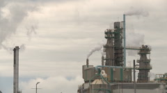 Pulp mill steam 2 Stock Footage