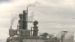 Pulp mill steam and smoke  Stock Footage