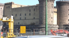 Naples - Castel Nuovo - stock footage